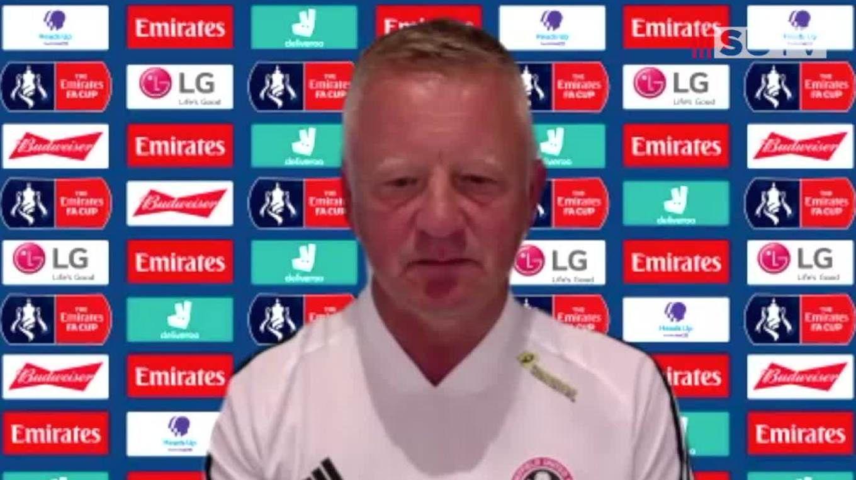 Chris Wilder's full Arsenal pre-match