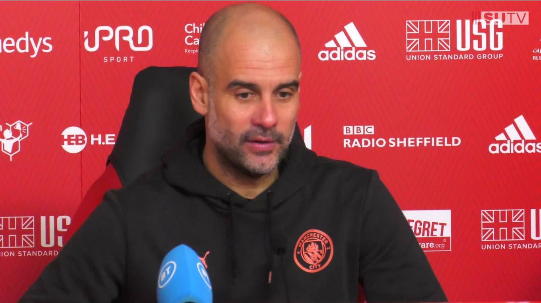 Pep Guardiola's post-match press conference