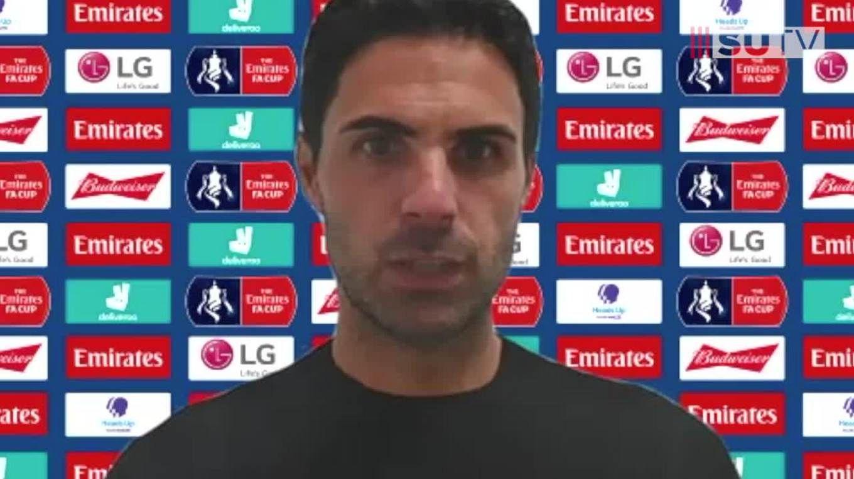 Mikel Arteta's post-match press conference