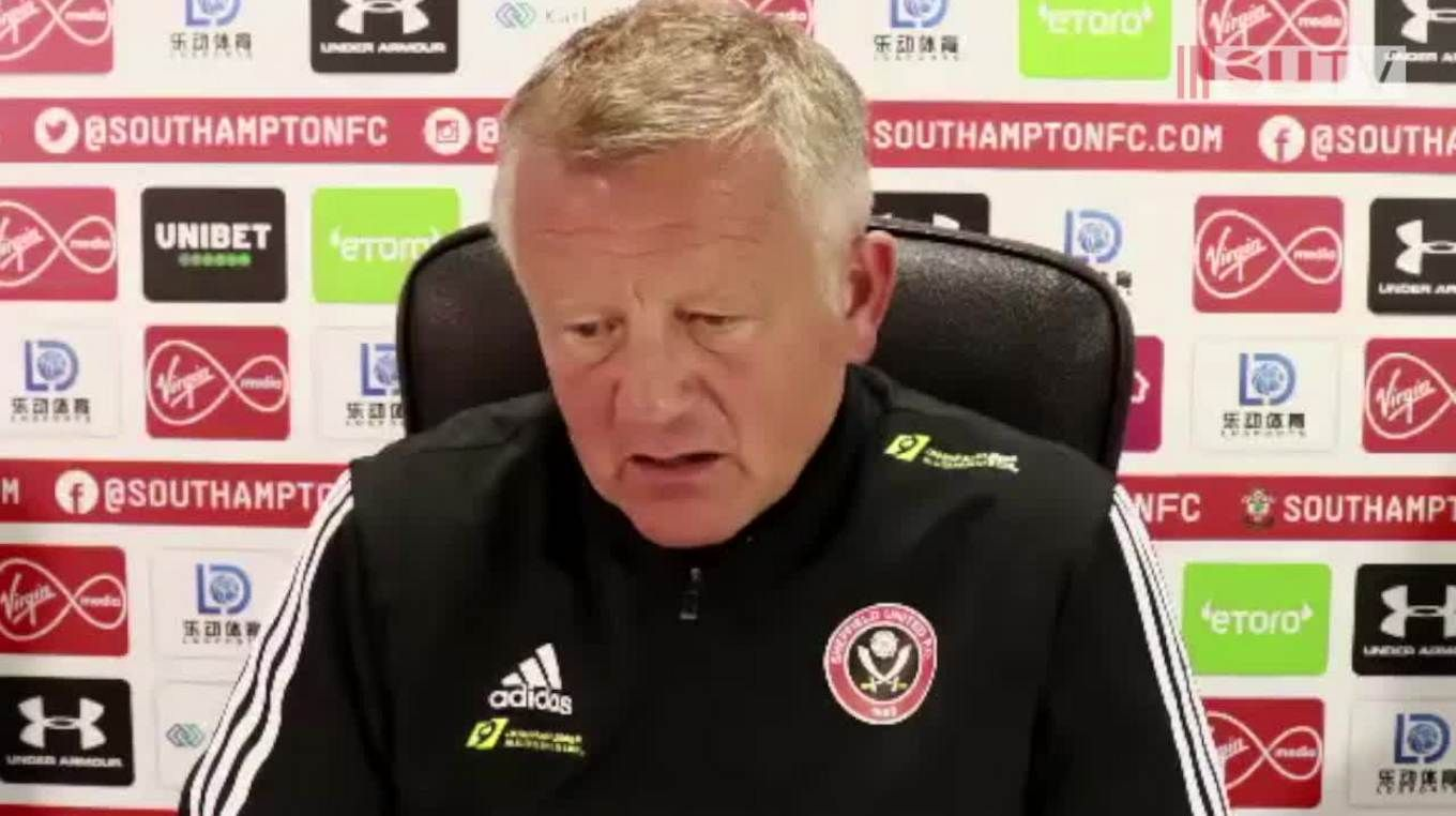 Chris Wilder's post-match press conference