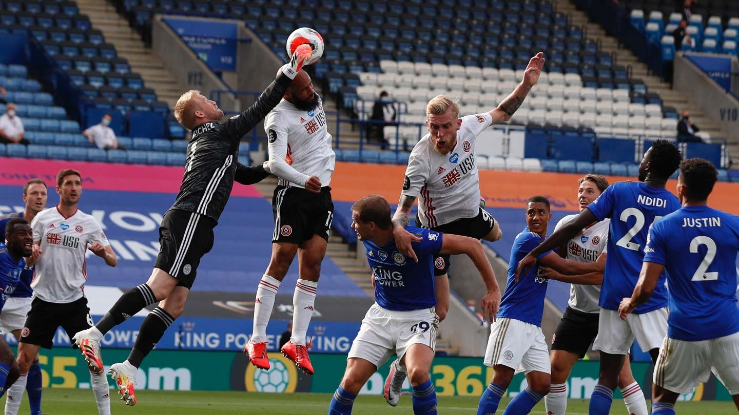 Leicester 2-0 Blades - match action