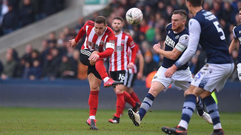 Millwall 0-2 Blades - full match replay