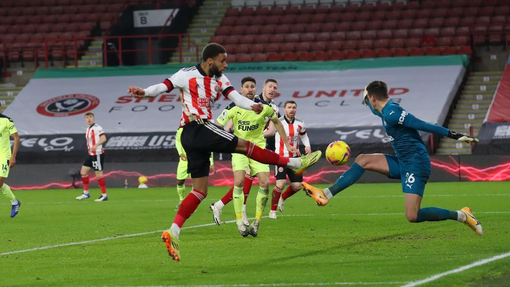Sheffield United FC - Blades 1-0 Newcastle - match action